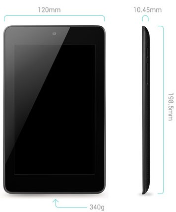 Nexus7 2012モデルのサイズ