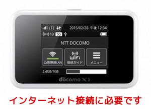 インターネット接続が必要な場合はあわせてレンタルください【NTT Docomo HW-02G】[モバイルWi-Fi ...