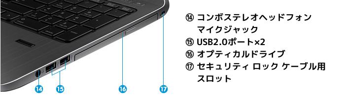 ProBook450 G2 右側面